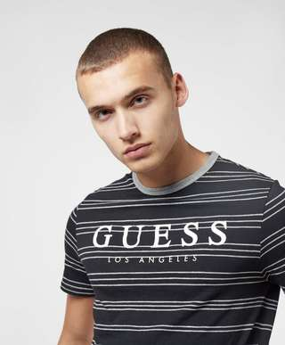Guess Simon Stripe Short Sleeve T-Shirt