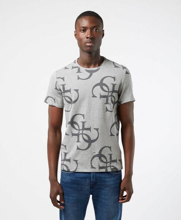 Guess Monogram Print Short Sleeve T-Shirt
