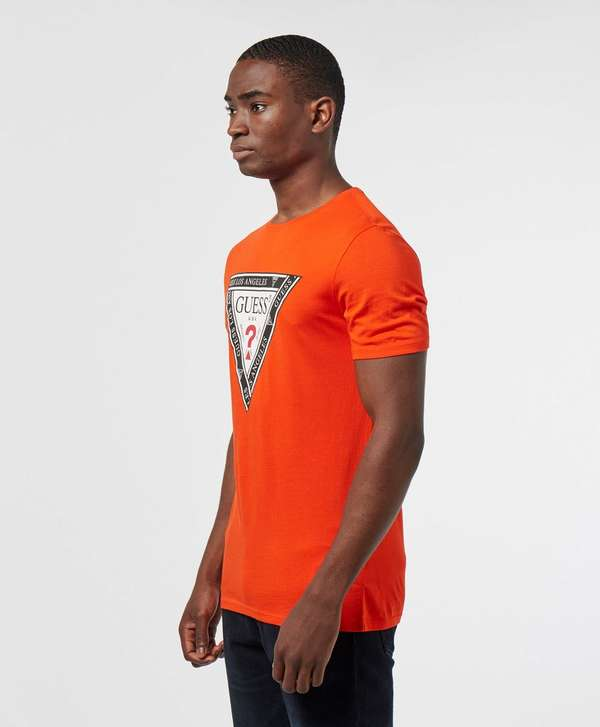 Guess Tape Triangle Short Sleeve T-Shirt