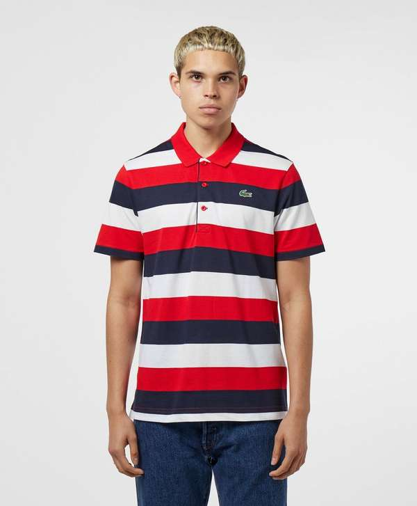 Lacoste Rugby Stripe Short Sleeve Polo Shirt