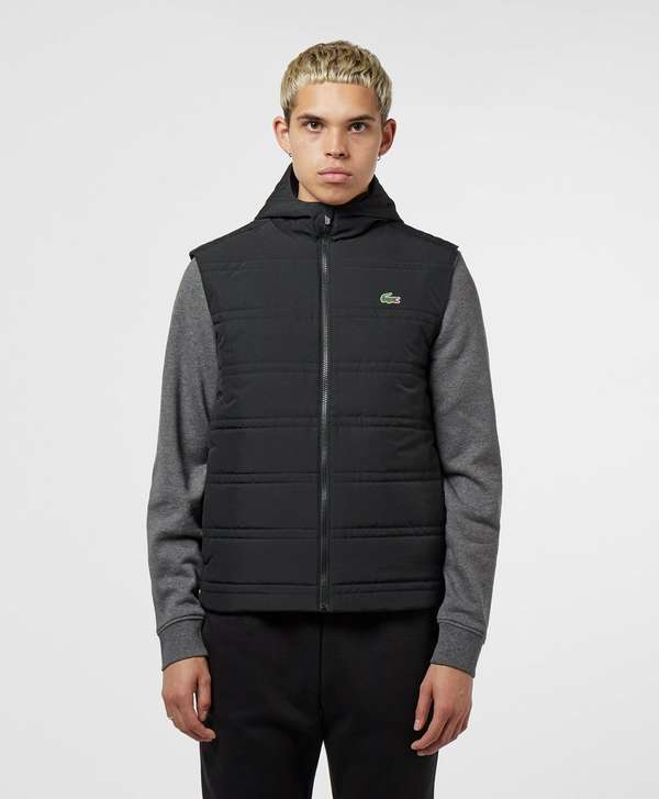 Lacoste Taffeta Hooded Padded Gilet