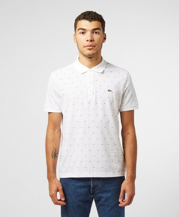 Lacoste Houndstooth Print Short Sleeve Polo Shirt