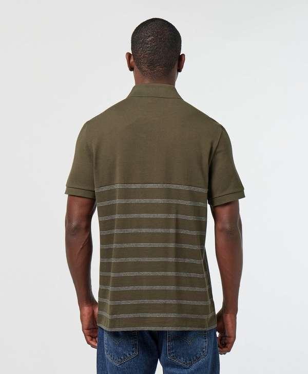Lacoste Half Stripe Short Sleeve Polo Shirt