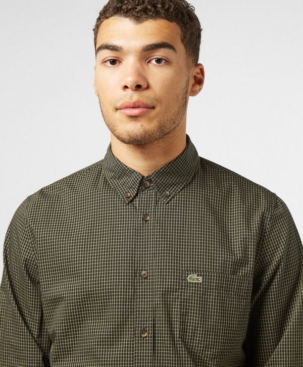 Lacoste Graphic Check Long Sleeve Shirt
