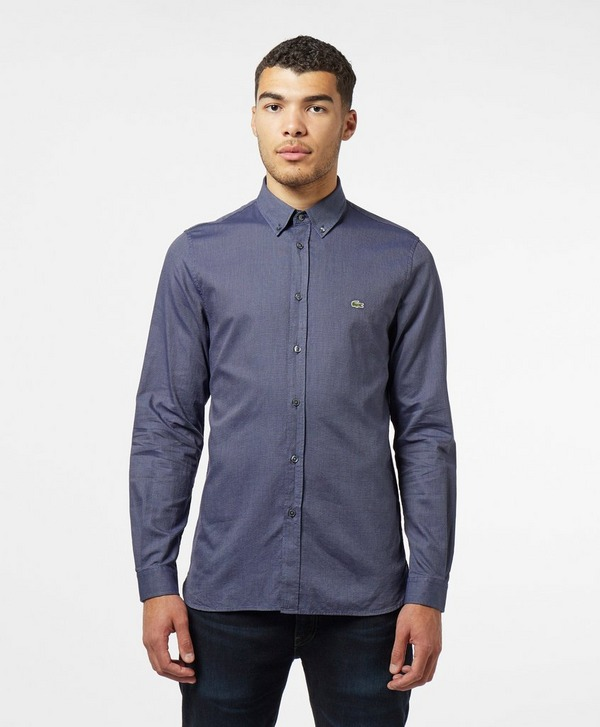 Lacoste Dot Poplin Long Sleeve Shirt