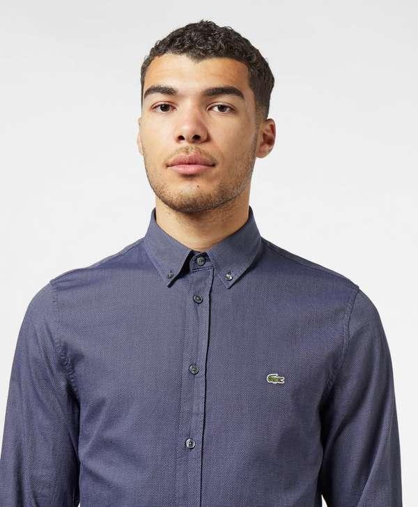 Lacoste Dot Poplin Long Sleeve Shirt