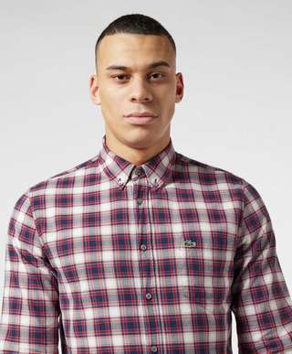 Lacoste Fine Check Long Sleeve Shirt