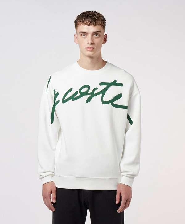 Lacoste Live Script Logo Sweatshirt