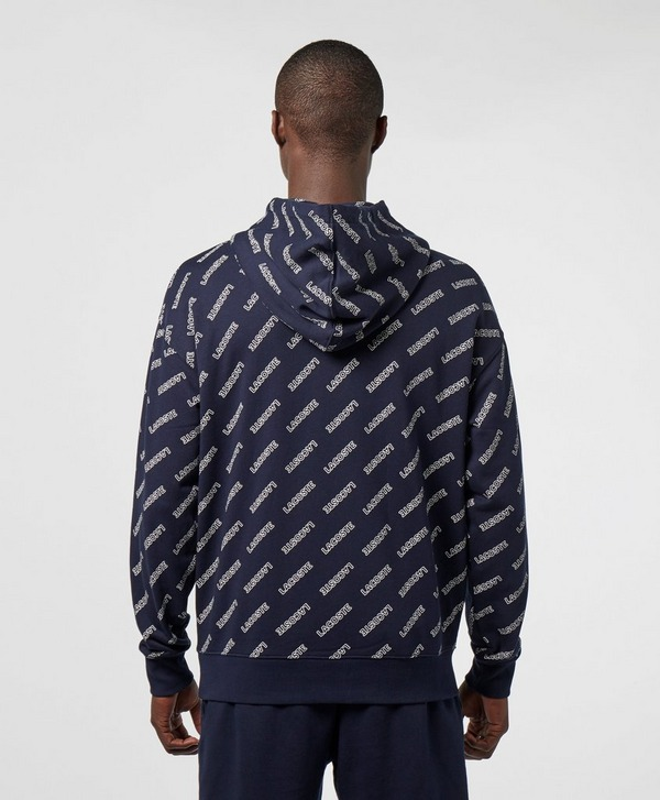 Lacoste Live All Over Logo Overhead Hoodie