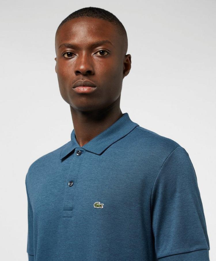 Lacoste Finestripe Short Sleeve Polo Shirt