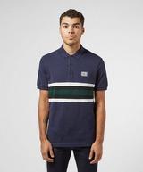 Lacoste Badge Stripe Short Sleeve Polo Shirt