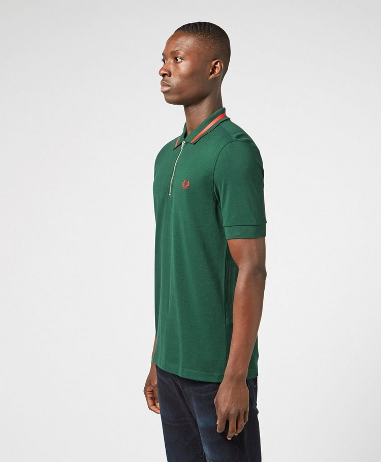 Fred Perry Zip Short Sleeve Polo Shirt