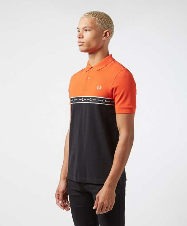 Fred Perry Taped Chest Short Sleeve Polo Shirt