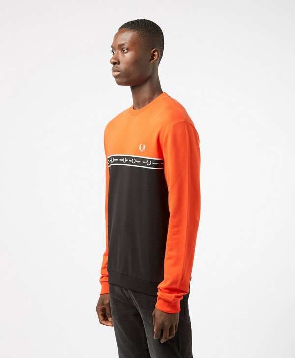 Fred Perry Taped Chest Sweatshirt