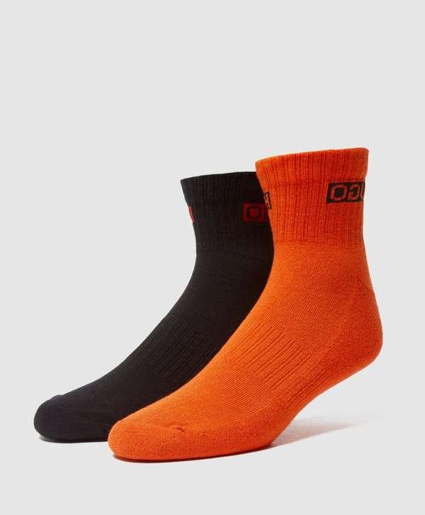 HUGO 2-Pack Ribbed Ankle Socks