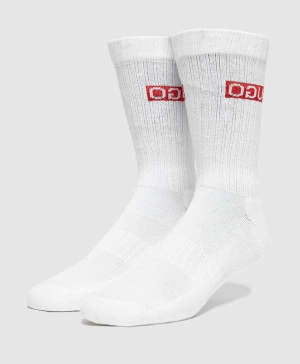 HUGO 2-Pack Ribbed Crew Socks