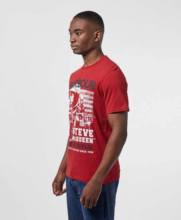 Barbour International Steve McQueen Collage Short Sleeve T-Shirt