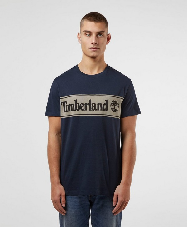 Timberland Cut and Sew Linear Logo T-Shirt