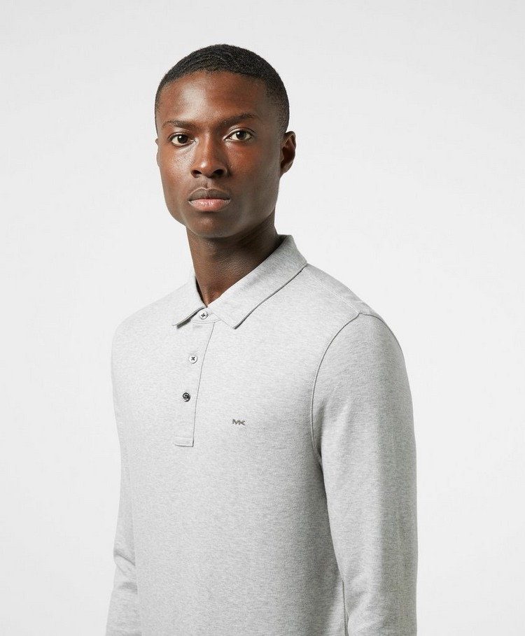 Michael Kors Sleek Long Sleeve Polo Shirt