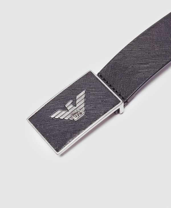 Emporio Armani Eagle Plaque Belt