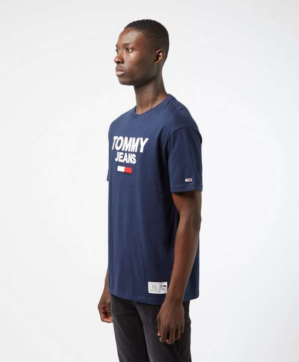 Tommy Jeans Novelty Corporate Logo Short Sleeve T-Shirt