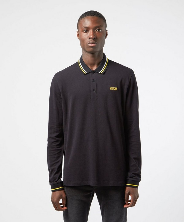 HUGO Donol Tipped Long Sleeve Polo Shirt