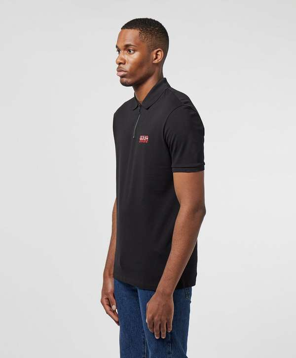 HUGO Deking Short Sleeve Zip Polo Shirt