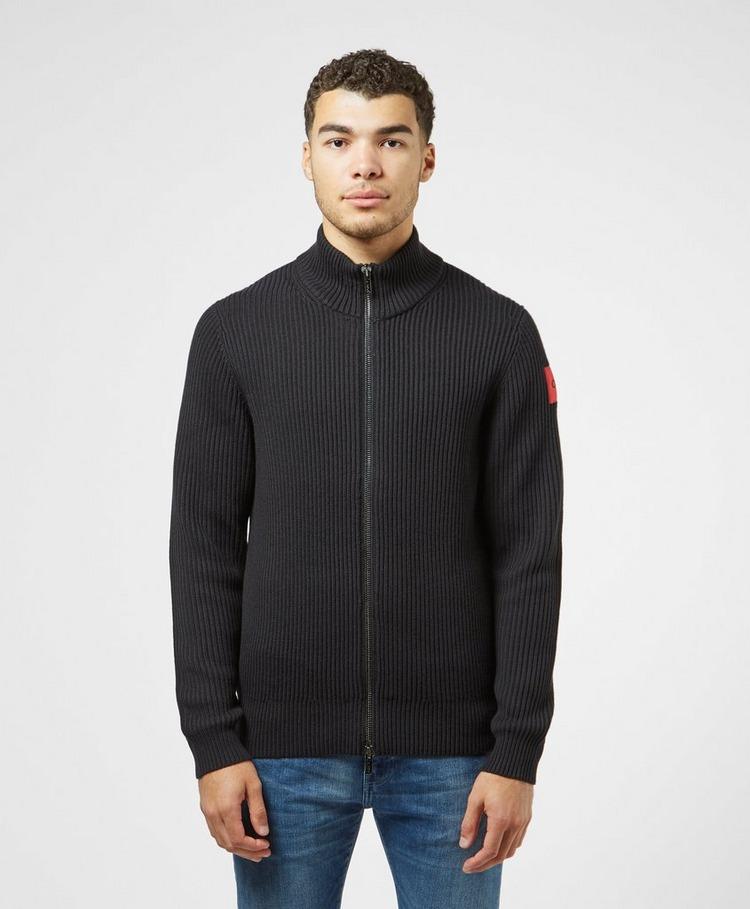 HUGO Sambre Full Zip Knitted Sweatshirt