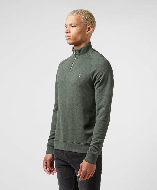 Farah Quarter Zip Pullover Sweatshirt