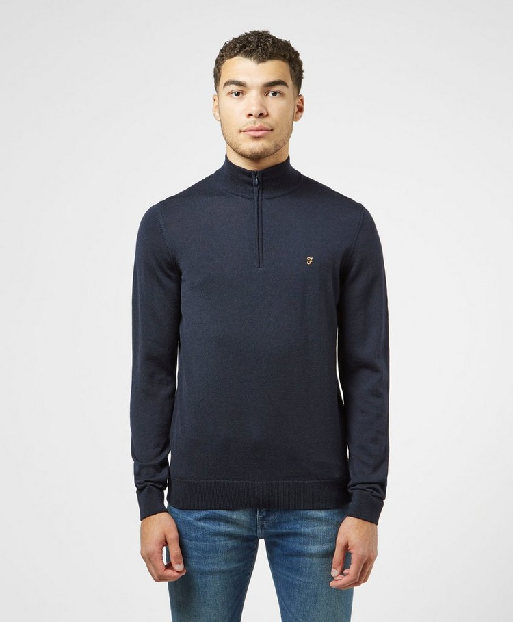 Farah Quarter Zip Wool Jumper