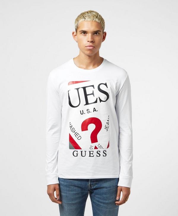 Guess Box Logo Long Sleeve T-Shirt