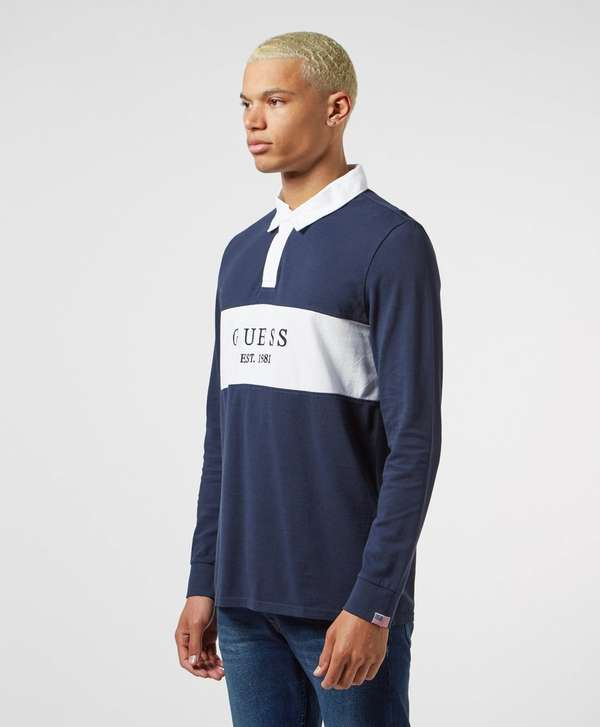Guess Alwyn Long Sleeve Rugby Polo Shirt