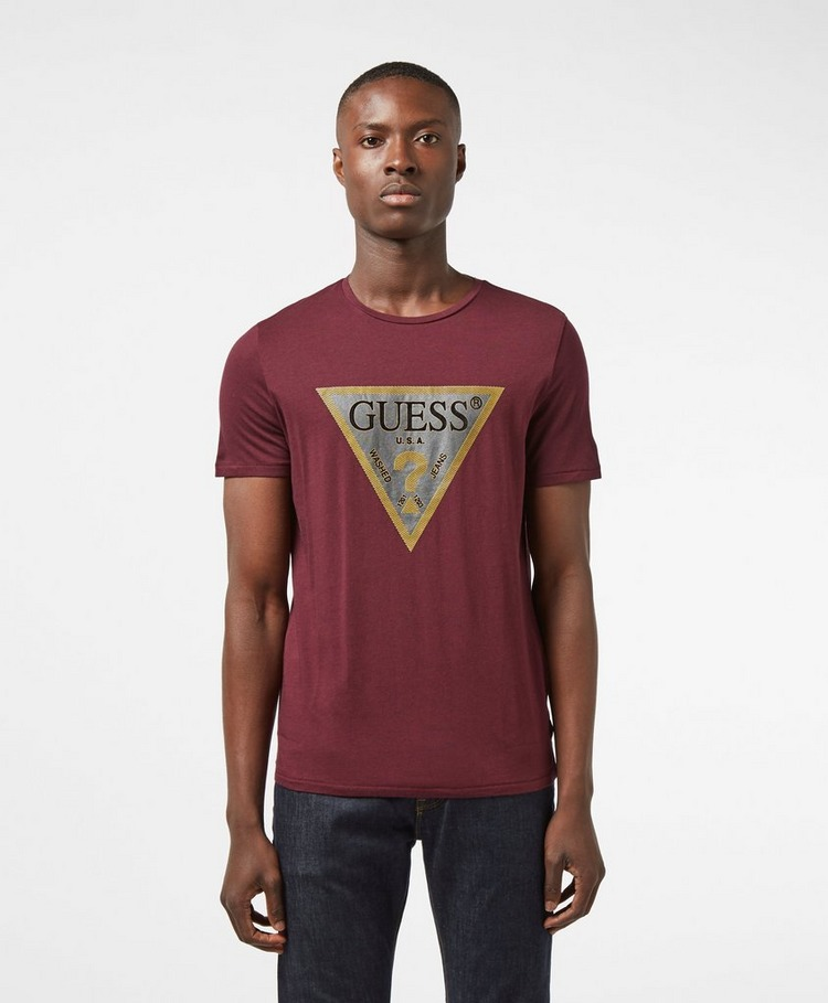 Guess Gold Triangle Short Sleeve T-Shirt