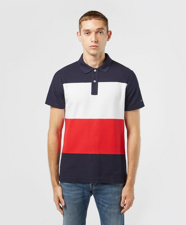 Tommy Hilfiger Colour Block Short Sleeve Polo Shirt