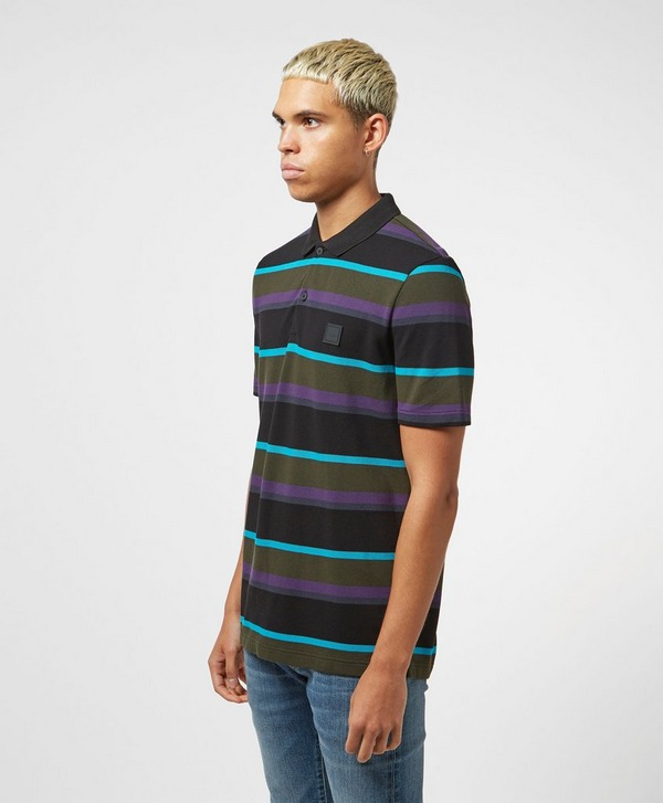 BOSS Block Stripe Short Sleeve Polo Shirt