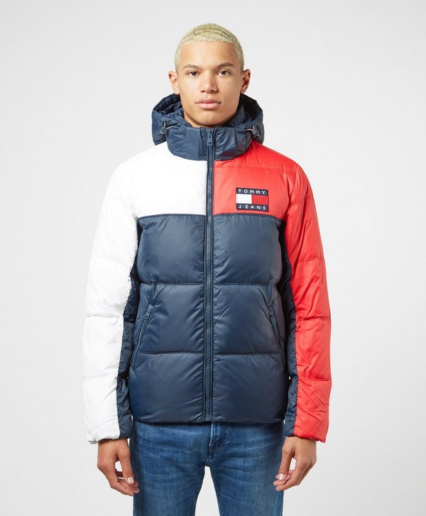 Tommy Jeans Badge Colour Block Padded Jacket