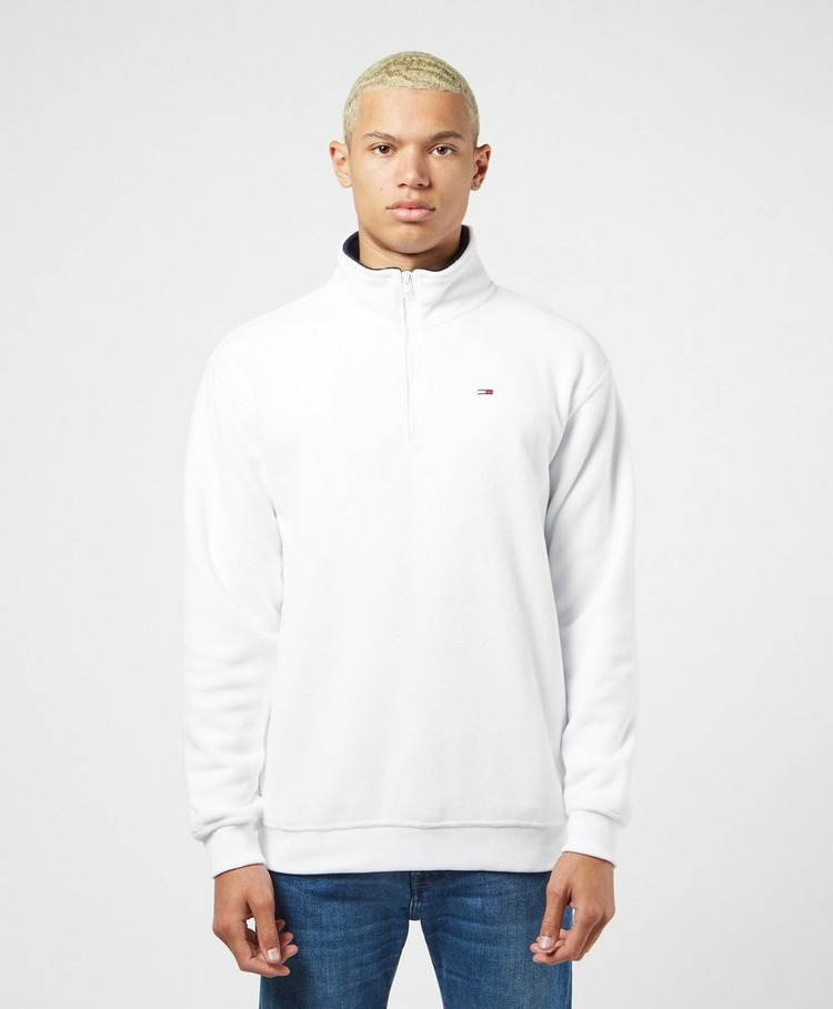 Tommy Jeans Polar Fleece Half Zip Mock Sweatshirt