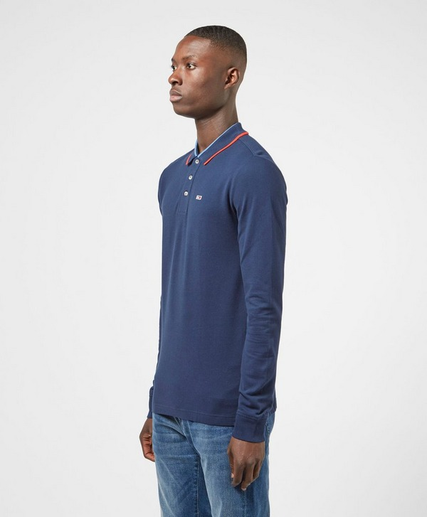 Tommy Jeans Tipped Long Sleeve Polo Shirt