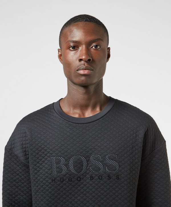 BOSS Quilted Embroidered Sweatshirt