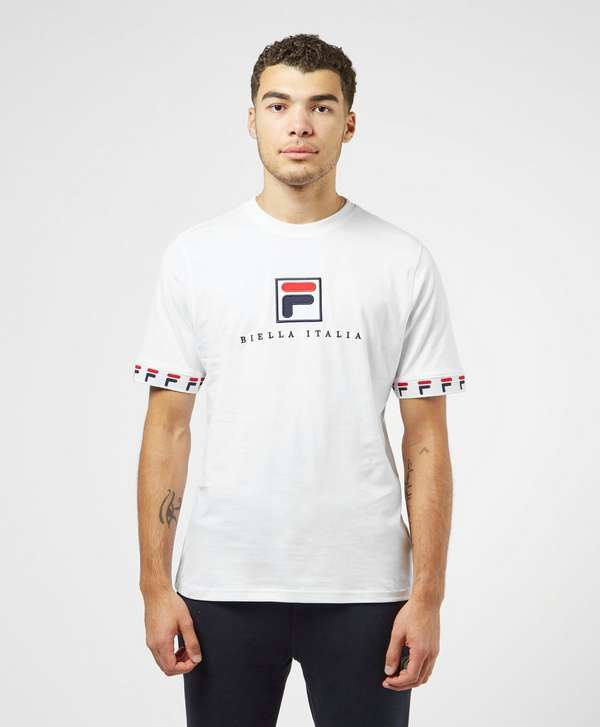 Fila Rosso Tape Cuff Short Sleeve T-Shirt