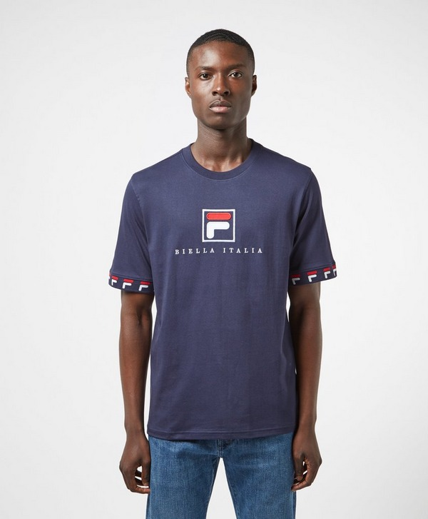 Fila Rosso Tape Cuff Short Sleeve T-Shirt