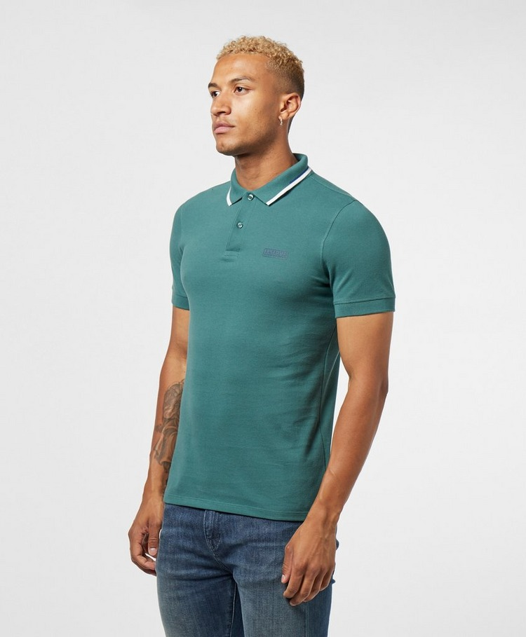 Barbour International Tipped Washed Short Sleeve Polo Shirt