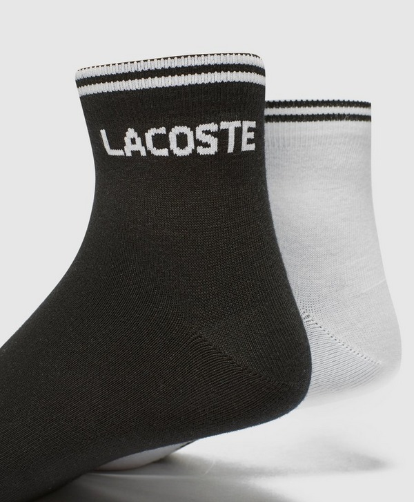 Lacoste 2 Pack Stripe Socks