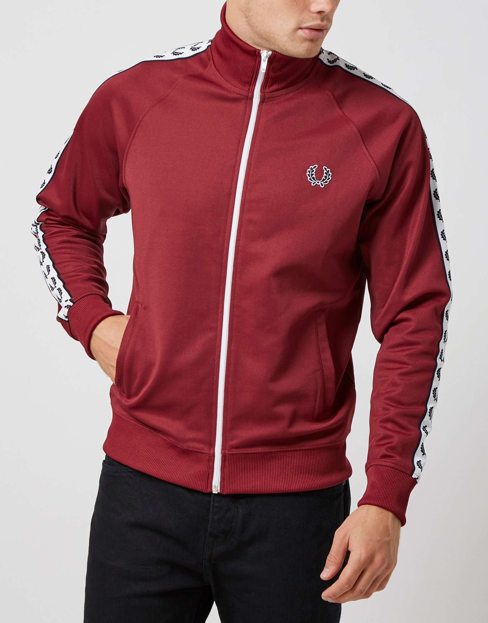 636838fe34a Fred Perry Laurel Wreath Tape Track Top | scotts Menswear