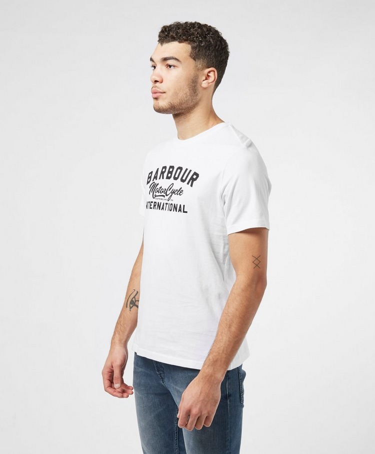 Barbour International Motorcycle Logo Short Sleeve T-Shirt