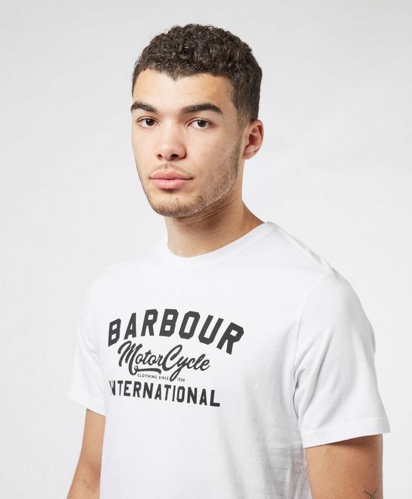 Barbour International Motorcycle Logo Short Sleeve T-Shirt