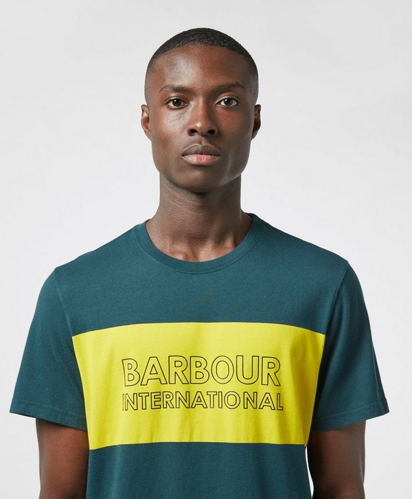 Barbour International Panel Logo Short Sleeve T-Shirt