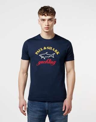 Paul and Shark Big Logo Short Sleeve T-Shirt