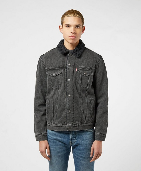 Levis Serif Back Sherpa Denim Jacket