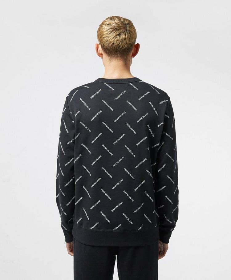 Calvin Klein Jeans All Over Logo Crew Sweatshirt